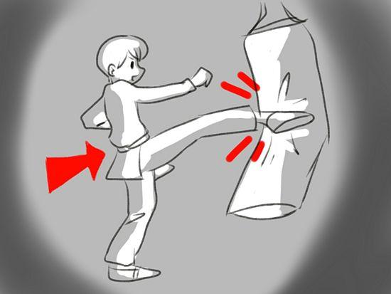 یاد بگیرید چگونه ضربه بزنید